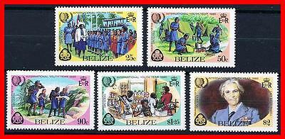 Belize 1985 Girl Scouts / Int'l Youth Year Mnh Chemistry, Microscope