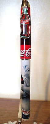 Coca Cola Pen - Coke Bottle Pocket Clip - Polar Bear Design - Used Vg Condition