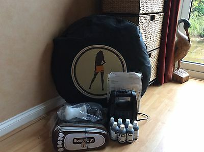 Earlex TS20 Spray Tanning kit, Pop Up Tent, 7 solutions and  Disposables. NEW!