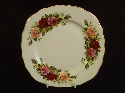 Royal Vale Trio of Roses 15.5cm Square Tea Plates