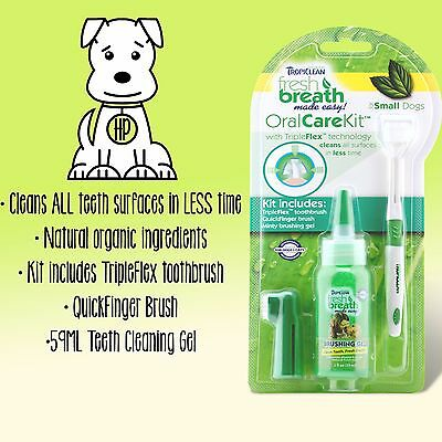 TropiClean Fresh Breath Oral Care Kit • Dog Toothpaste Mint Gel CATS DOGS BRUSH