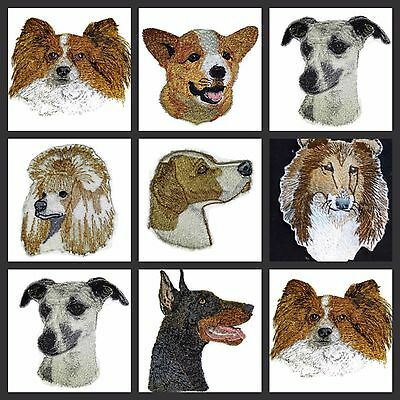 Beautiful Dog Faces Embroidered Iron On Patches