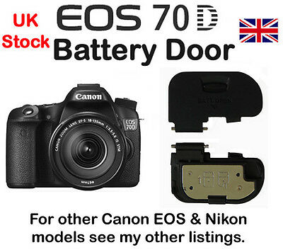 Battery Door Cover for Canon EOS 70D NEW
