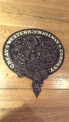 Cast Iron Plaque 'Great Western Railway Company'