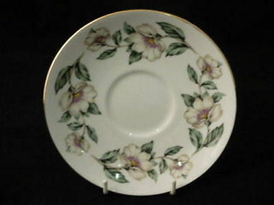 """CROWN STAFFORDSHIRE """" CHRISTMAS ROSES """" 14cm SAUCER (C)"""