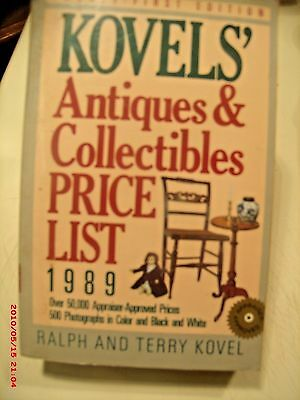 Kovels Antiques & Collectibles Price List 1989 21St Edition  Paper Back