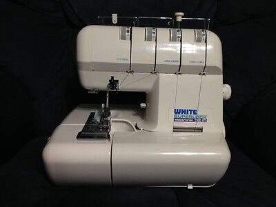 White Superlock 2000 Ats  Serger Owners Instruction Manual (Workbook) On Cd
