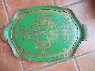 Vintage OFM Florentine Serving Tray Baroque Design Made In Italy Kitchenalia