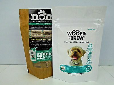 WOOF & BREW Fresh Breath 7 Day Doggy Dog Puppy Tea and Biscuits Set Treat • EUR 8,35