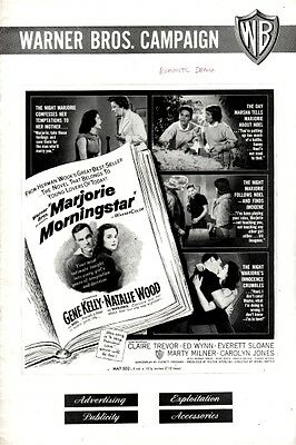 MARJORIE MORNINGSTAR pressbook, Gene Kelly, Natalie Wood, Claire Trevor