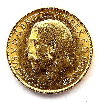 1913 George V Full Gold Sovereign Perth Mint