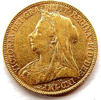 1900 Queen Victoria Full Gold Sovereign London Mint