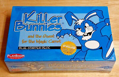 Killer Bunnies and the Quest for the Magic Carrot Blue Starter Deck - Brand New