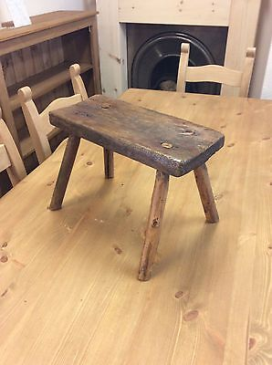 antique hungarian stool Milking Stool Vintage Rustic European Collectable