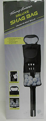 Tommy Armour Deluxe Golf Shag Bag Holds 75 Golf Balls  No More Bending Over B-Sc