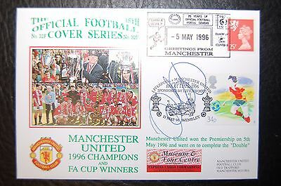 Ryan Giggs Manchester United Signed 1996 Double Winners  First Day Cover