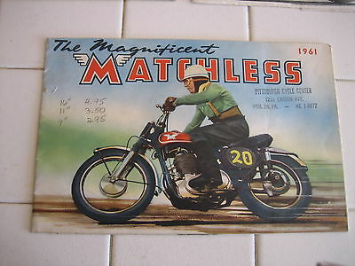 1961 Original Indian Matchless Motorcycle Brochure