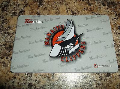2015 Nanaimo Clippers Bchl Reloadable Tim Hortons Tim Card Zero Dollars