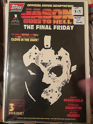 JASON GOES TO HELL #1 NM 1st Print Sealed w Cards Friday The 13th Topps Comic