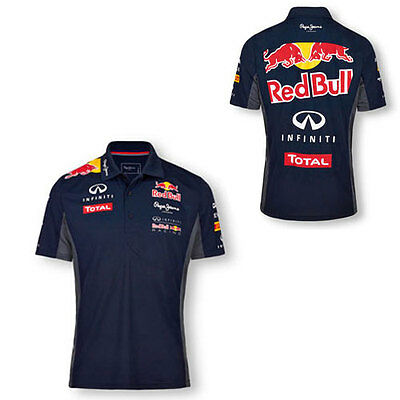Infiniti Red Bull Racing F1 Mens Functional Polo Top Sizes L & Xl