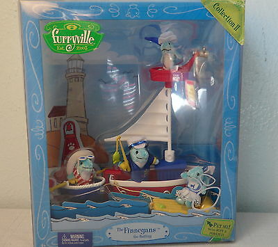 Furryville Lot The Finnegans Go Sailing Boats Sailboat & Raft Playset NIB