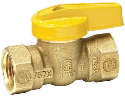 "HOMEWERKS WORLDWIDE LLC 1/2"" BRS Gas Ball Valve"