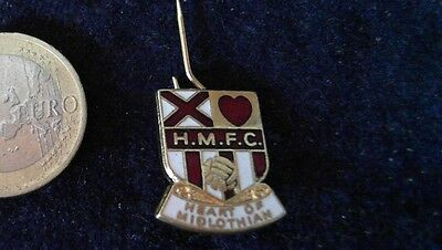 Fussball Brosche Badge kein Pin Retro HMFC Heart of Midlothian