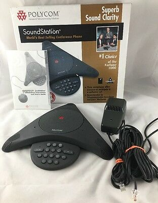 Polycom SoundStation Audio Conference Call Phone Complete Telephone w/Box