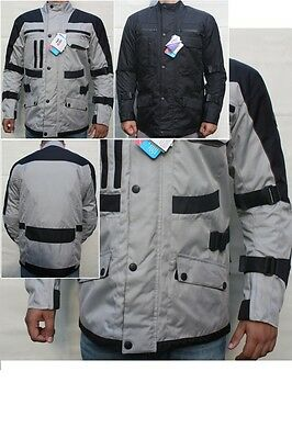 Mens Motorcycle Waterproof Cordura Textile Jacket Motorbike Armours BLACK, Gray