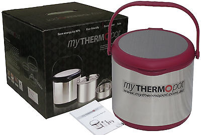 6L My Thermo Pot Thermal Mythermopot Magic Camping Caravan Slow Cooker - Red