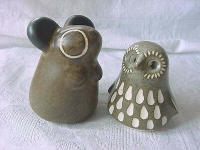 Vintage MID CENTURY MODERN Strawberry Hill Owlet BABY OWL Bird & MOUSE 70's