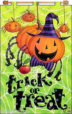 """Design Works Jeweled Beads Kit 16"""" x 24"""" Banner ~ TRICK OR TREAT #4234 Sale"""