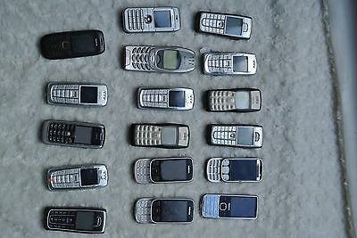 JOB LOT MOBILE PHONES SOME WORKING - UNTESTED (17 x nokia ) .0012