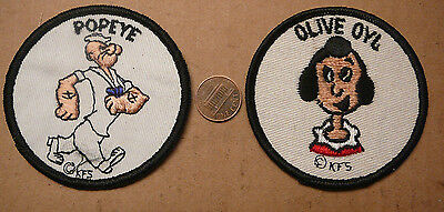 Vintage Popeye And Olive Oyl Cloth Patches Kfs King Features