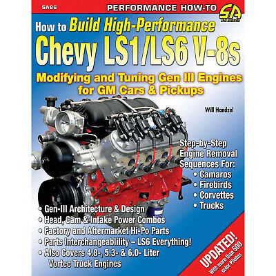 S-A BOOKS SA86 How To Build HP Chevy LS1/LS6 Motors