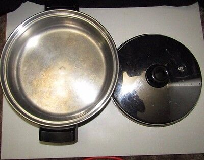 """SALADMASTER ELECTRIC SKILLET Huge 12"""" OIL CORE K7256 Pan Replacement - No Cord"""