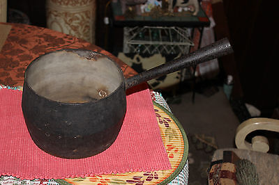 Antique Marietta Co. PA. Cast Iron Cooking Smelting Melting Pot W/Handle-Country
