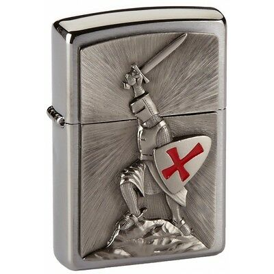 Zippo Crusade Victory Emblem Chrome Windproof Lighter  Brand New