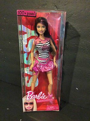 2009 Mattel Barbie SASSY FASHIONISTAS Doll 100+ Poses Poseable Articulated R9882