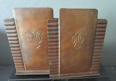 Pair of Craftsman Copper Bookends