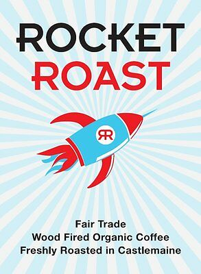 Wood-fired Fairtrade Organic Coffee Ground Rocket Roast 400g