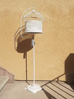 Antique Vintage Hendryx Cottage Bird Cage w/ Stand, Swing & Feeders Tassel