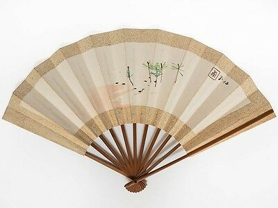 Antique Vintage Japanese 'Sensu' Folding Fan from Kyoto: NovC