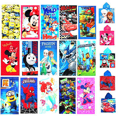 New Kids Cotton Towel Beach Bath Pool Swim Frozen Paw Patrol Toys Girls Boy Xmas