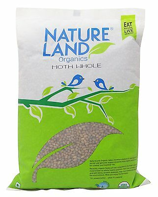 NatureLand Organics Moth Beans Whole USDA Certified- Choose Your Weight