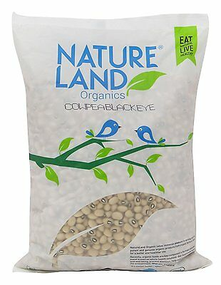 NatureLand Organics Black Eyed Cow Pea Beans USDA Certified- Choose Your Weight