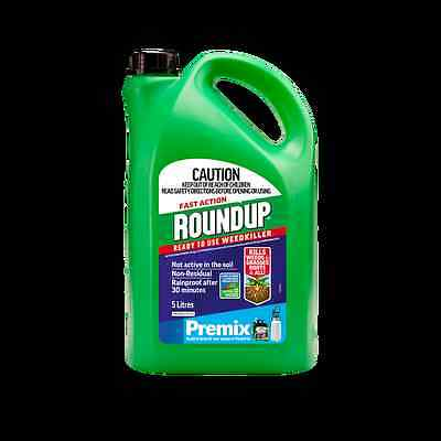 Roundup 5L Fast Action Ready To Use Weedkiller Premix