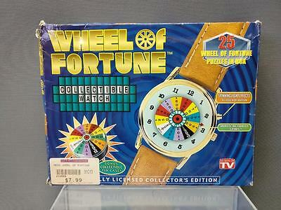 WHEEL OF FORTUNE COLLECTIBLE WATCH TIN  In Original Packaging NOS