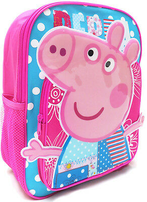 New Large Backpack Bag Pink Peppa Pig Kids Girls School Daycare Christmas Toy's