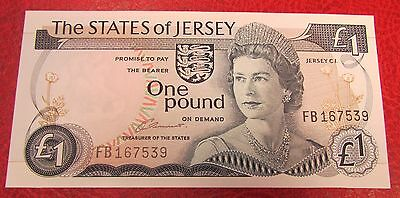 1976 + States of Jersey Channel Islands £1 Banknote